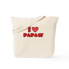 I heart Papaw Tote Bag