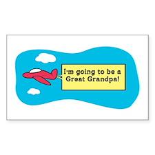 I'm Going to be a Great Grandpa! Sticker (Rectangu