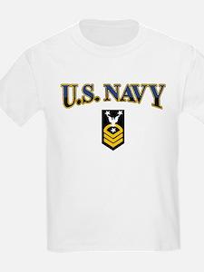 CMC USN Gold on Black T-Shirt
