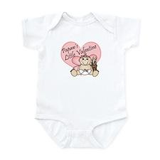 Papaw's Little Valentine GIRL Infant Bodysuit