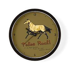 Akhal-Tekes Rock Wall Clock