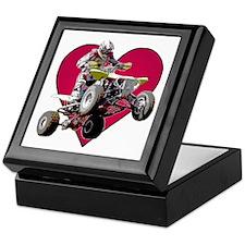 ATV Racing (color) Keepsake Box