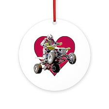 ATV Racing (color) Ornament (Round)