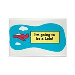 I'm Going to be a Lolo! Rectangle Magnet (10 pack)