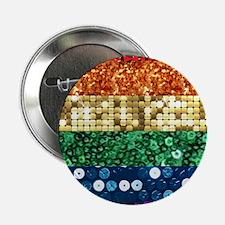 "sequin pride flag 2.25"" Button"