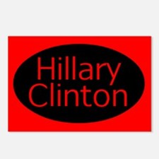 Red & Black Hillary Oval Postcards (Package of 8)