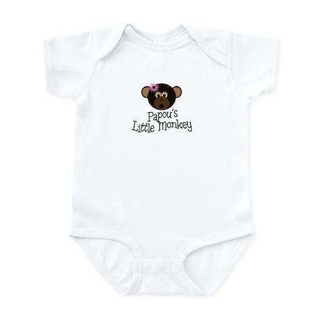 Papou's Little Monkey GIRL Infant Bodysuit