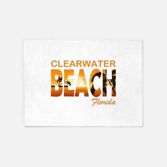 Florida - Clearwater Beach 5'x7'Area Rug