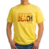 Siesta key florida Mens Classic Yellow T-Shirts