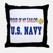 "Lt. Commander ""Pride"" Throw Pillow"