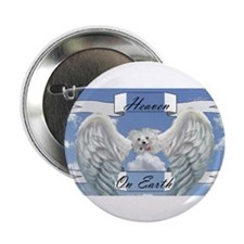 "Unique Maltese angel 2.25"" Button (100 pack)"