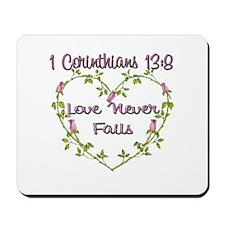 Love Never Fails Mousepad