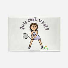 Light Tennis Rectangle Magnet