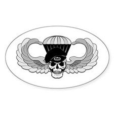 Airborne Jump Wings Oval Decal