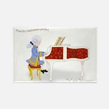 Practice Maintains Perfect Mozart Piano Rectangle