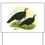 Black Turkeys Yard Sign