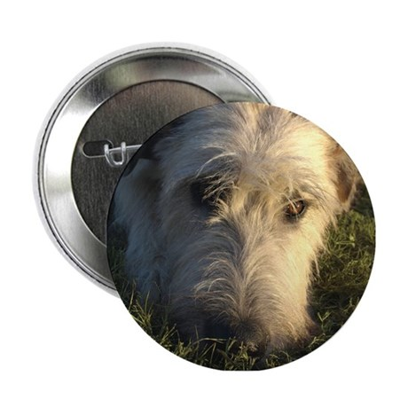 "Irish Wolfhound Thinking 2.25"" Button"