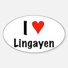 I love Lingayen Oval Decal