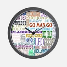 """Famous Names"" Wall Clock"