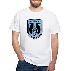 White T - Blue 2K8c Logo and PFF Back
