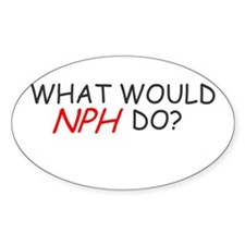 WHAT WOULD NPH DO SHIRT NEIL Oval Decal