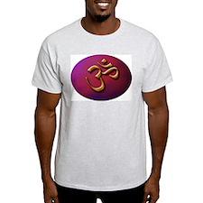Golden Om Ash Grey T-Shirt