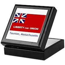 Taunton MA Flag Keepsake Box