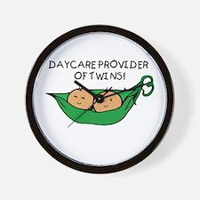 Daycare Provider of Twins Pod Wall Clock