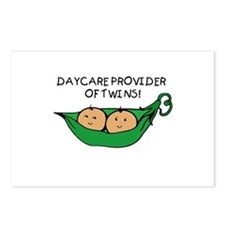 Daycare Provider of Twins Pod Postcards (Package o