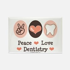 Peace Love Dentistry Dentist Rectangle Magnet