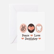 Peace Love Dentistry Dentist Greeting Card