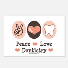 Peace Love Dentistry Dentist Postcards (Package of