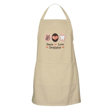 Peace Love Dentistry Dentist BBQ Apron