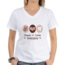 Peace Love Dentistry Dentist Shirt