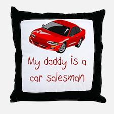 Car Salesman Throw Pillow