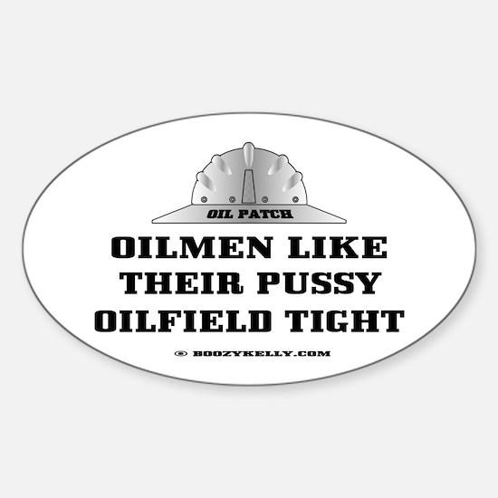 Oilfield Tight Oval Bumper Stickers