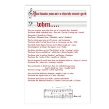 Church Music Geek Postcards (Package of 8)