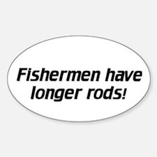 Fishermen / Longer Rods - Euro Oval Decal