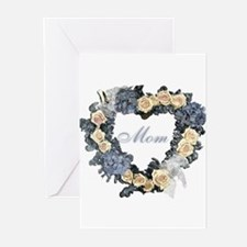 Mom Violet Wreath Greeting Cards (Pk of 10)