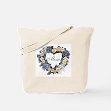 Mom Violet Wreath Tote Bag