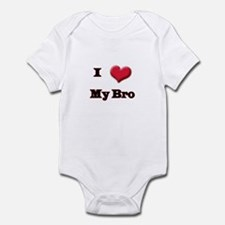 I Love (Heart) My Bro Infant Bodysuit