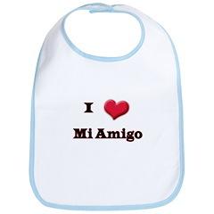 I Love (Heart) Amigo Bib
