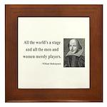Shakespeare 1 Framed Tile
