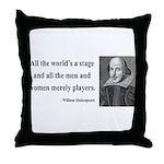 Shakespeare 1 Throw Pillow