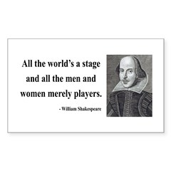 Shakespeare 1 Rectangle Decal