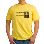 Shakespeare 1 Yellow T-Shirt