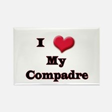 I Love (Heart) My Compadre Rectangle Magnet