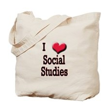 I Love (Heart) Social Studies Tote Bag