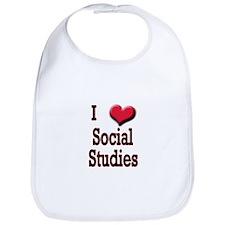 I Love (Heart) Social Studies Bib