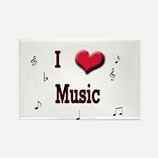 I Love (Heart) Music Rectangle Magnet